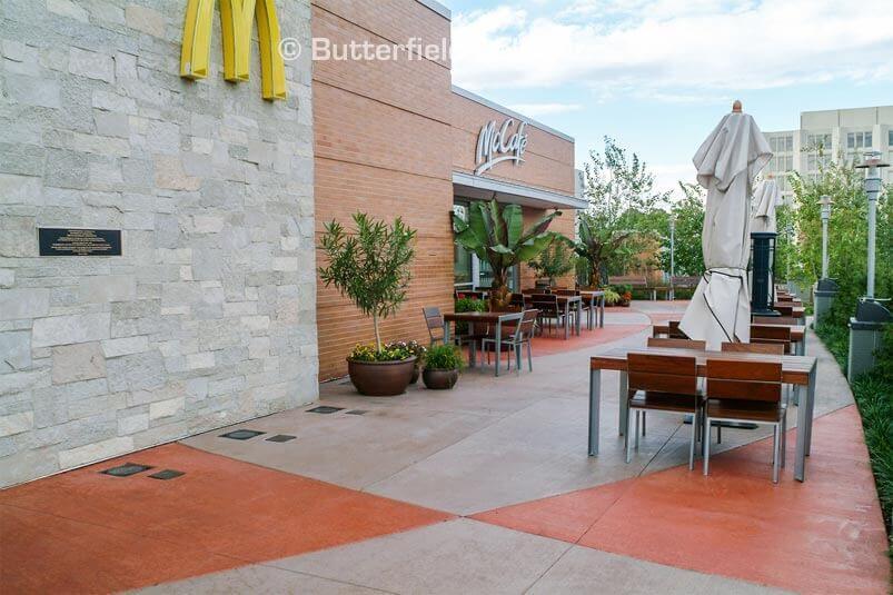 McDonalds Cafe decorative concrete