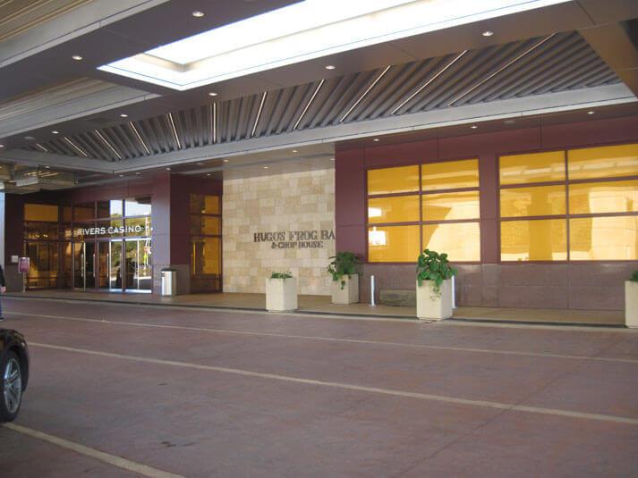 Rivers Casino concrete