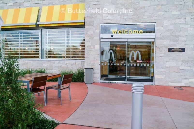 decorative concrete at McDonalds
