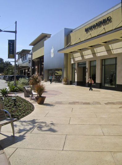shopping center concrete project