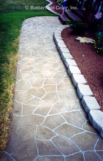 Flagstone concrete stencil