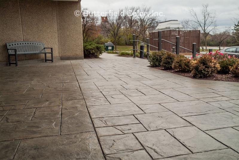 office park decorative concrete