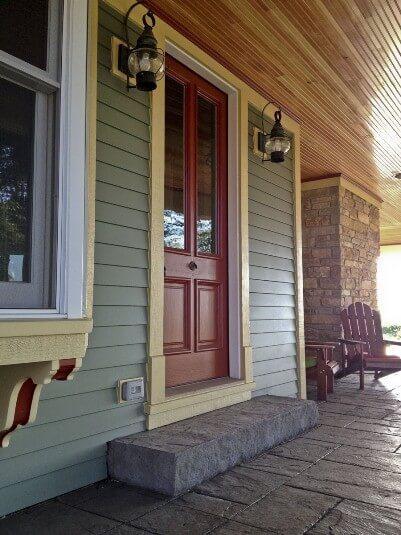 wrap around porch decorative concrete
