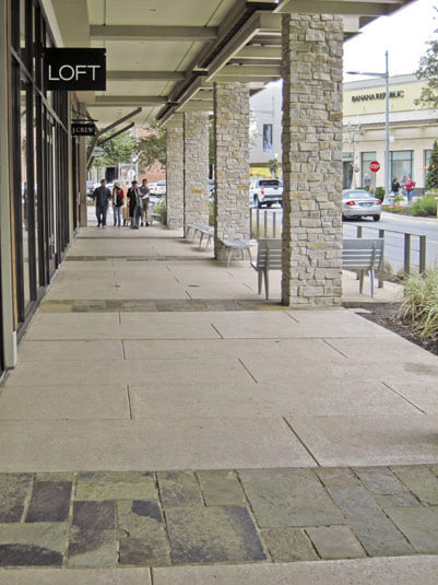 decorative concrete for shopping center