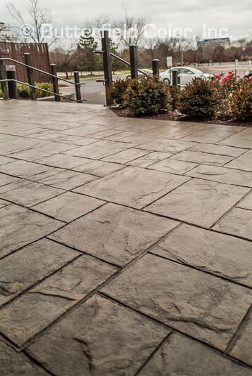stamped concrete for office buildings