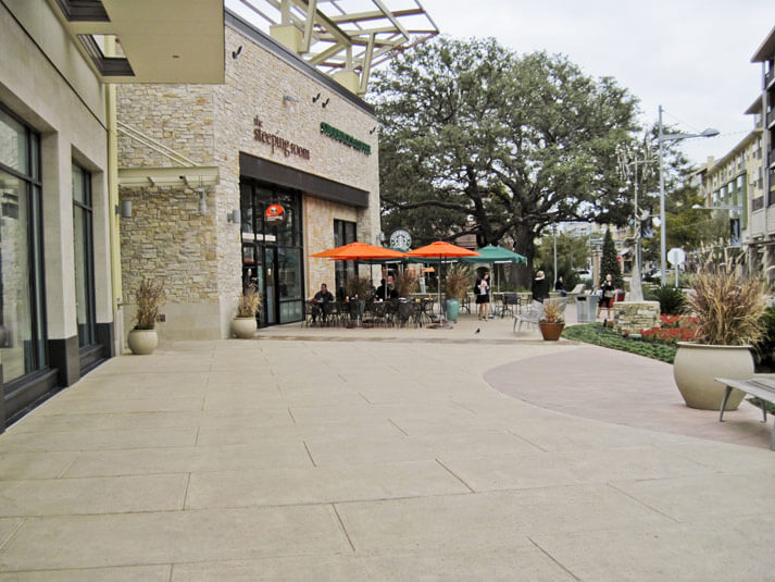 decorative concrete products for shopping malls