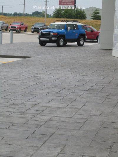 Majestic Ashlar Stamp concrete overlay