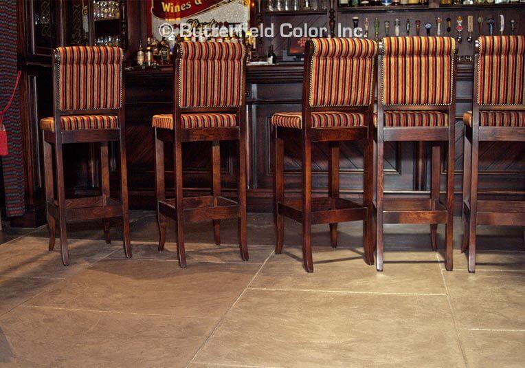 decorative concrete for restaurants