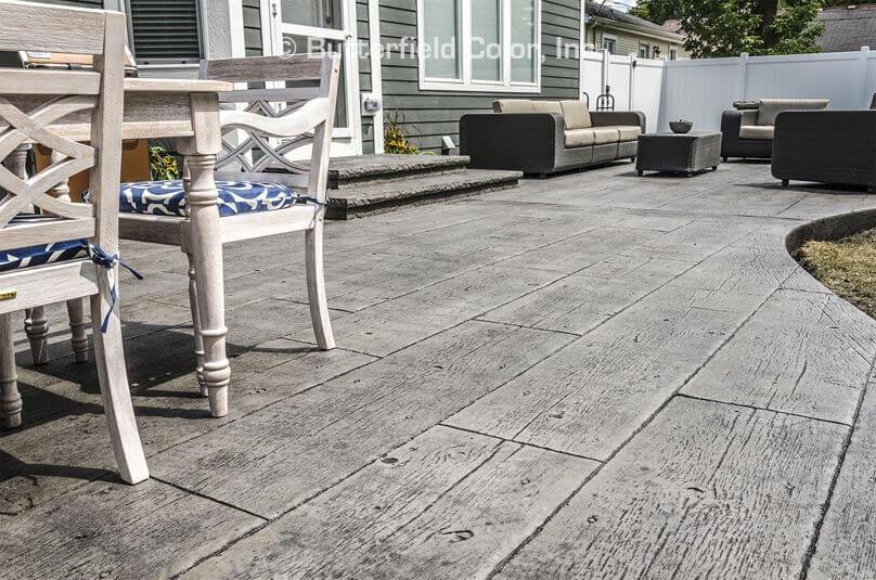 concrete that looks like wood flooring