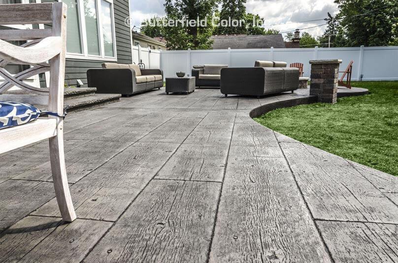 wood floor patio concrete