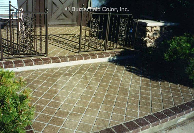 Square Tile Concrete Stencil