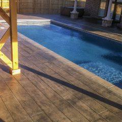 128243 Wood Plank Stamp Pool Deck