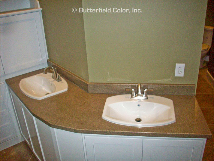 double concrete sinks