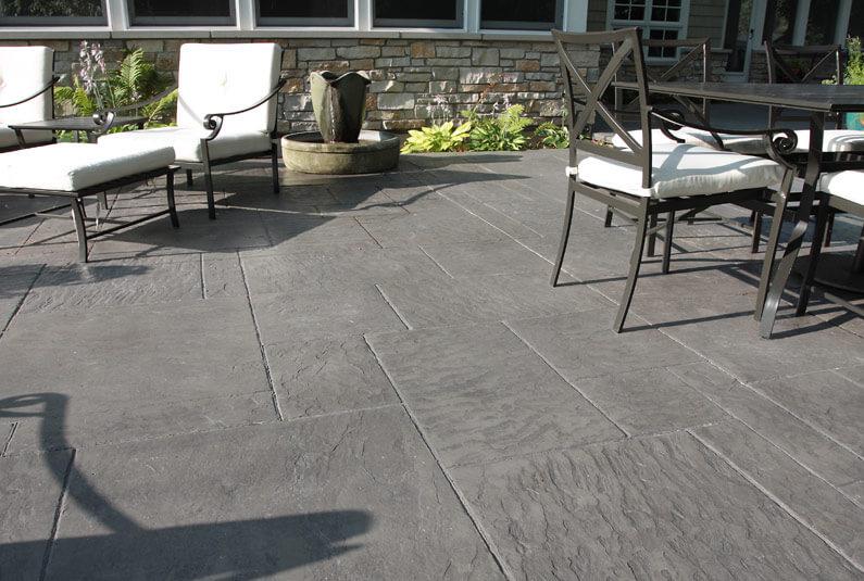 grey concrete stamping