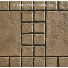 18 Tumbled Edge Stone with 4 Stone Border Stamp Sample