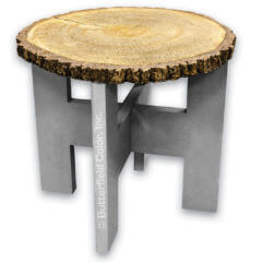 3 Log Round Table Top Mold with Table Leg Mold Sample