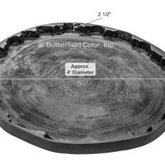 4 Log Round Table Top Mold with Specs
