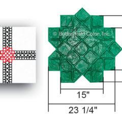 4 Tumbled Edge Stone Border Cross with Specs