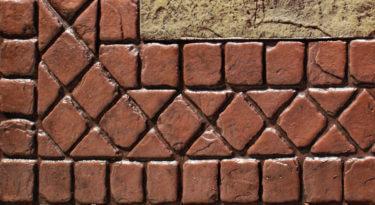 Sample Infield Heavy Stone Texture Stamp Sample Border 4 Tumbled Edge Stone Border Stamp