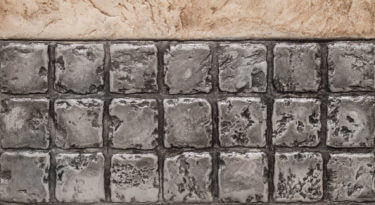 Infield Chiseled Slate Texture Stamp Border 48243 x 48243 Granite Border 3 Row Stamp