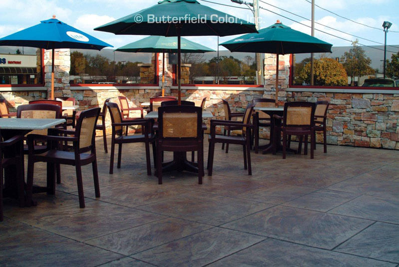 outdoor restaurant decorative concrete