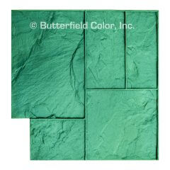 Ashlar Slate Green Stamp