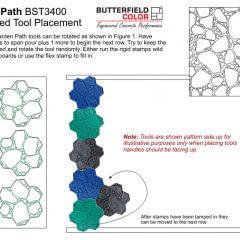 Garden Path Stamps Assembled