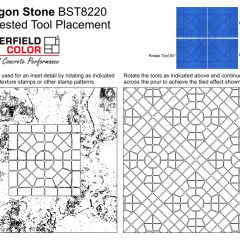 Octagon Stone Stamps Assembled