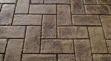 Granite Herringbone Stamp Sample