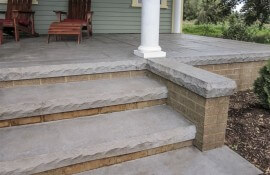 Cantilevered Cut Stone Step Liner  4