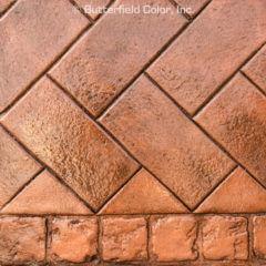 Sample Infield Granite Herringbone Stamp Sample Border 48243 x 48243 Granite Border 2 Row Stamp