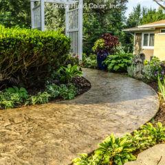 Hadley Creek Shale Texture Stamp Sidewalk