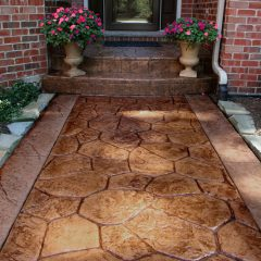 Fieldstone Stamp Sidewalk