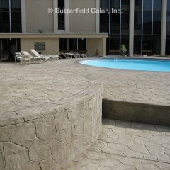 Fieldstone Stamp Pool Deck