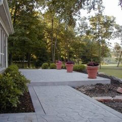 Fieldstone Stamp Walkway and Patio