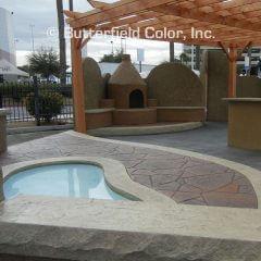Fox Valley Flagstone Stamp Pool Deck