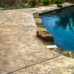 Heavy Stone Texture Stamp Pool Deck