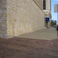 New Brick Basket Weave Stamp Sidewalk