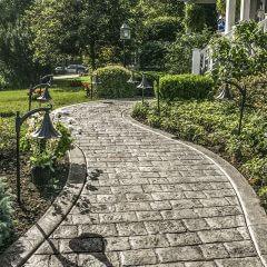 Mayan Cobblestone Stamp Walkway