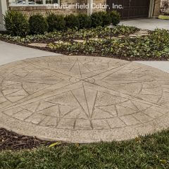 968243 Windrose 14 Circle Stamp Front Walkway