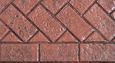 Sample Infield New Brick Herringbone Stamp Sample Border New Brick Sailor Course Stamp