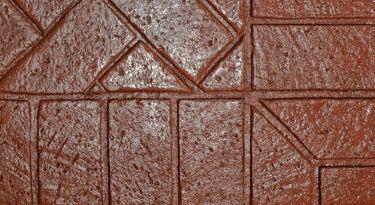 Sample Infield New Brick Herringbone Stamp Sample Border New Brick Soldier Course Stamp