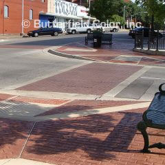 New Brick Running Bond Stamp Sidewalk and Crosswalk