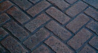 Old Chicago Herringbone Brick Stamp Sample