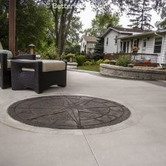 488243 Compass Rose Stamp Patio