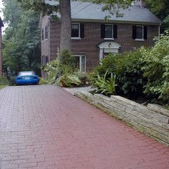 Pennsylvania Avenue Brick Running Bond Stamp Driveway