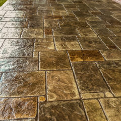 English Rivenstone Stamp Patio