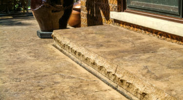Patio Surface Heavy Stone Texture Stamp Patio Step Edge 48243 Cut Stone Form Liner