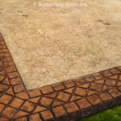 Patio Infield Oxford Slate Texture Stamp Patio Border 4 Tumbled Edge Stone Border Stamp