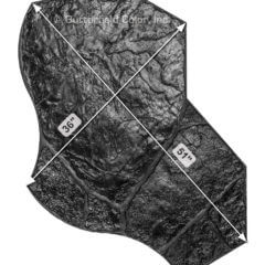 Appalachian Flagstone Black Stamp with Specs